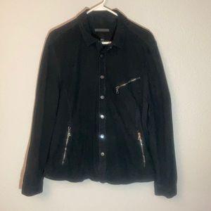 John Varvatos collection goat suede shirt jacket.